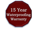 15 Year Waterproofing Warranty