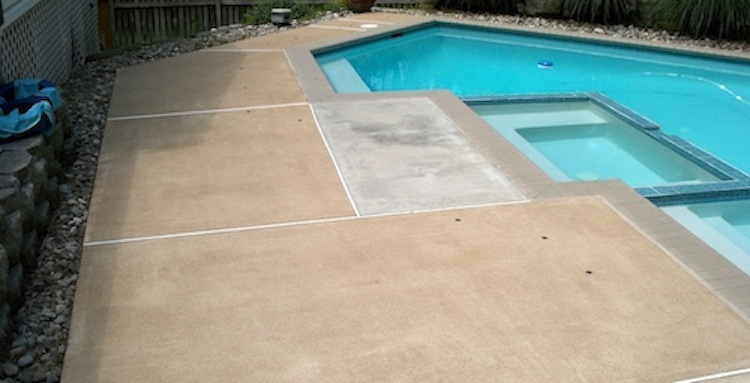 Mildew Removal From Concrete Pool Deck