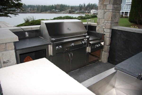Trojan Ultra Sealer on Outdoor Kitchen