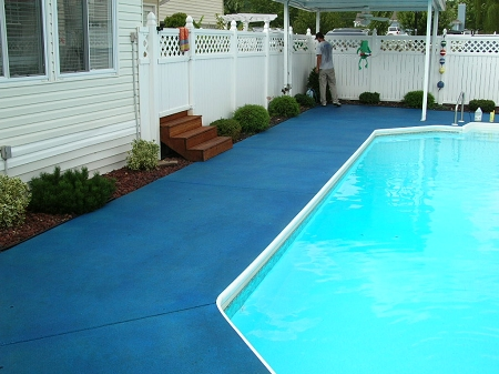 Images Of Green Painted Pool Decks