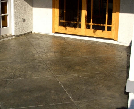 Trojan Color on faded concrete after
