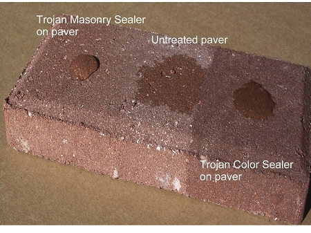 Trojan Sealer on Paver