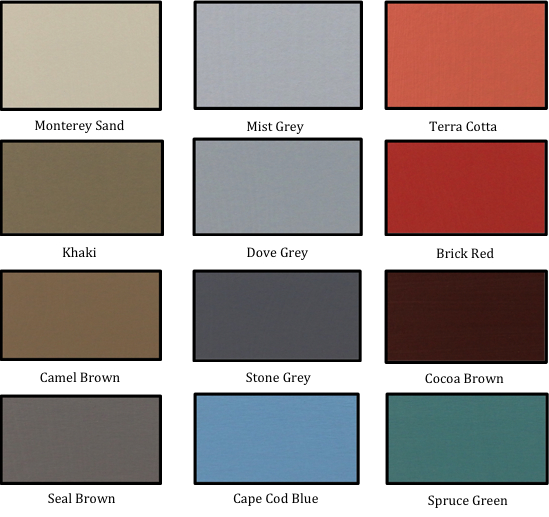 Envirosafe Exterior Wall Coating Color Chart