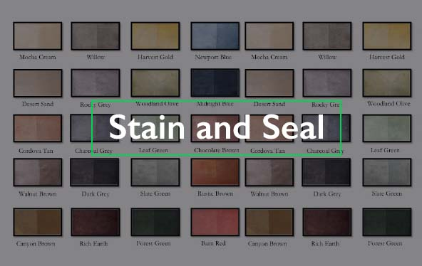 Stain and Seal
