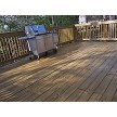Trojan Beta Z Wood Sealer on yellow pine wood deck