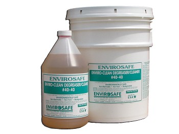 Enviro-Clean Cleaner Degreaser concentrate removes oils and dirt from concrete & brick