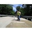 Trojan Sealer applied to concrete bridges in Indiana to help protect against freeze/thaw and deicing chemicals